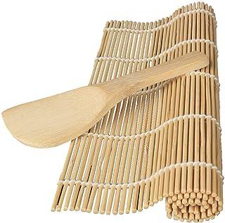 Demarkt–Sushi Rolling rodillo Material de bambú eléctrica DIY con arroz Paddle (estilo 1)