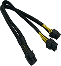 COMeap CPU 8 Pin Male to Dual 8 Pin(6+2) Male PCIe Power Adapter Cable for Dell PowerEdge R720 720XD R730 T620 and NVIDIA Tesla GPU J30DG 15-inch(38cm)