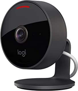Logitech 961-000490 Circle View Weatherproof Wired Home Security Camera TrueView Video, 180° Wide Angle, 1080p HD, Night V...