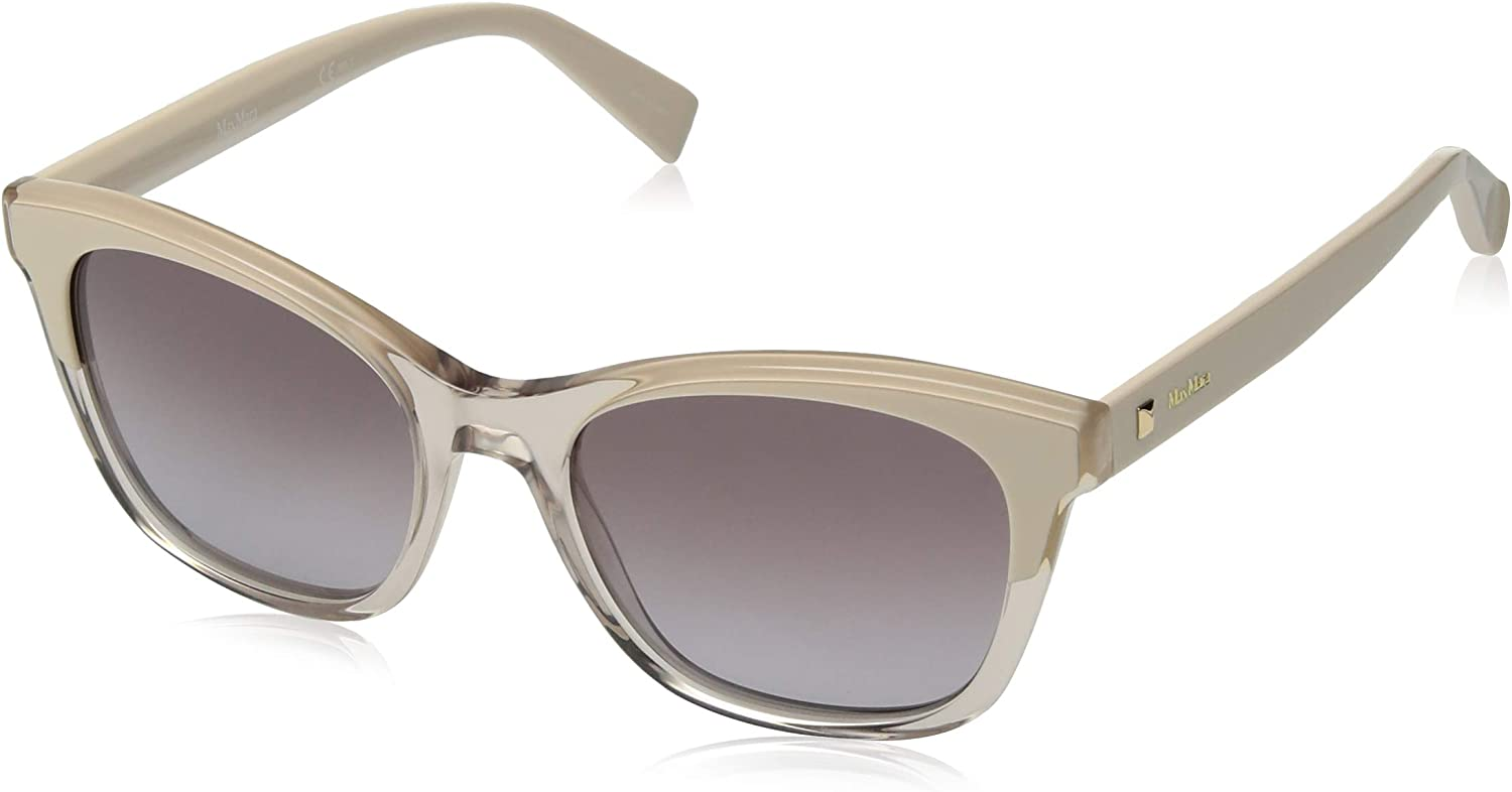 Max Mara Women's Mm Eyebrow Rectangular Sunglasses, NUDEBEIGE, 52 mm
