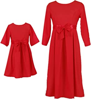Christmas Family Matching Match Outfits Mother Daughter Mommy and Me Dresses