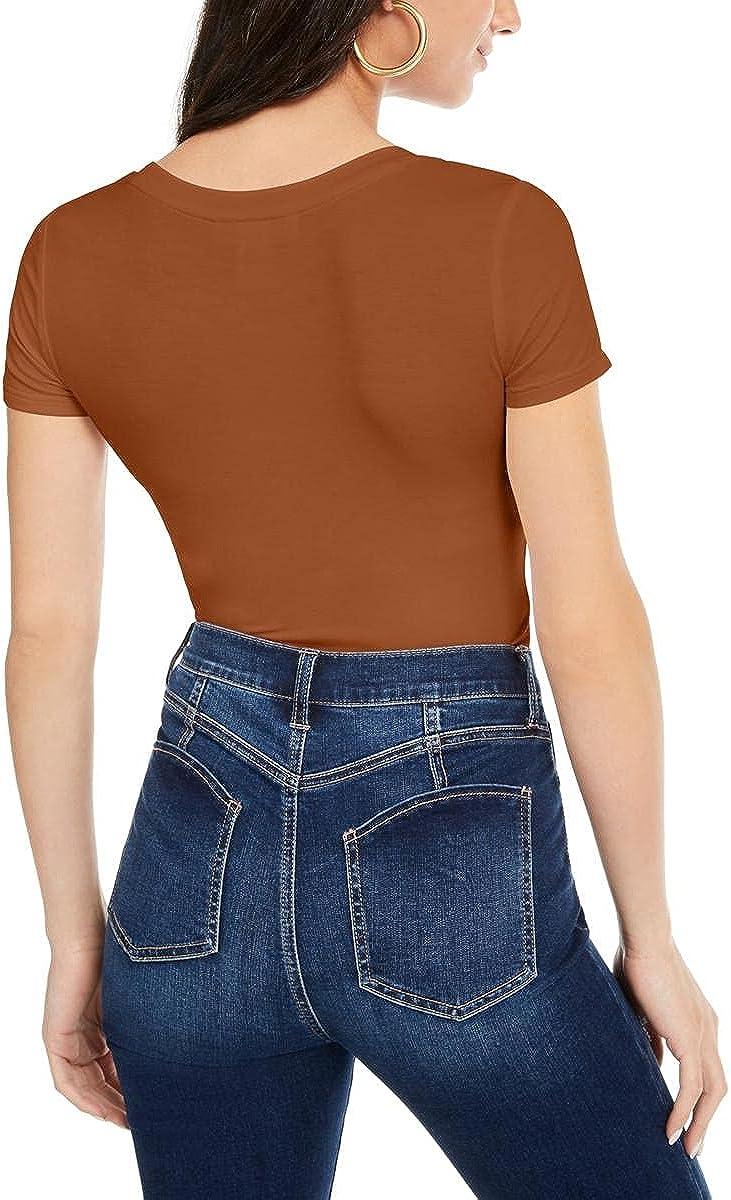 Planet Gold Womens Juniors Scoop Neckline Shirt Bodysuit