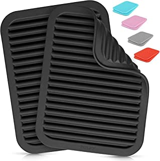 ELECDON 2 Pack Silicone Trivets For Hot Pots and Pans - Multi-Purpose and Versatile Trivet Mat - Heat Resistant Silicone T...