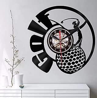 MURATE Golf Club Decoración de Pared Personalidad Reloj de Pared Marca de Registro Dial Visión 3D Reloj Relojes de Pared Regalo para Amante del Golf 30CM.