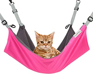 CUSFULL Cat Hammock Bed Comfortable Hanging Pet Hammock Bed for Cats/Small Dogs/Rabbits/Other Small Animals 22 x17 in