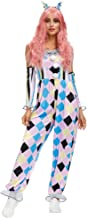 Beautiful Clown Romper Jumpsuit with Headwear and Arm Sleeves Haunted House Collection Dotted Clown Costume Clown Costume ...