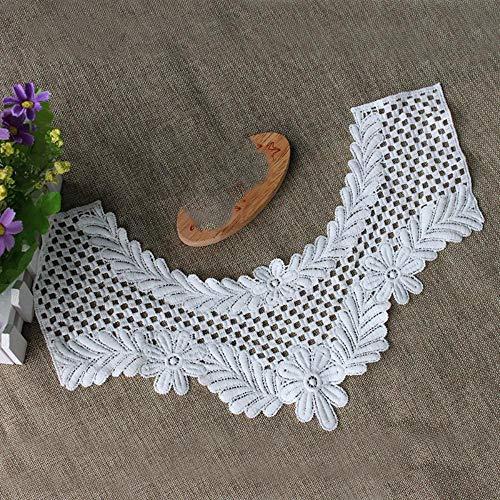 1 Stks Witte Fijne Kant Stof Jurk Applique Blouse Naaien Trims DIY Halslijn Kraag Kostuum Decoratie Accessoires TL109