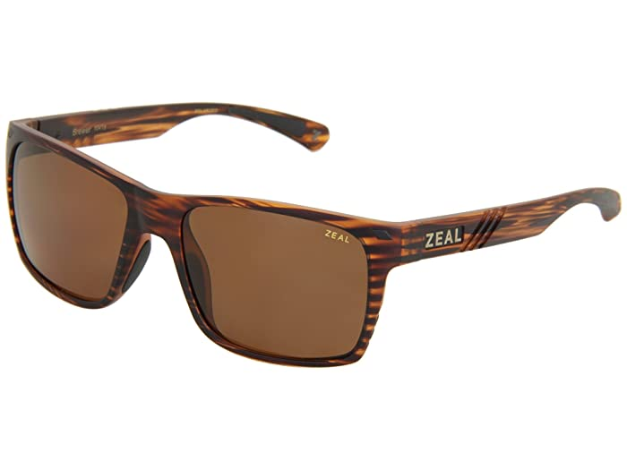 Zeal Optics  Brewer (Matte Wood Grain w / Copper Polarized Lens) Sport Sunglasses