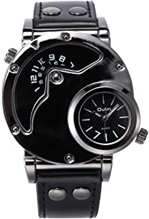 Brand HP9591 Watch Mens Quartz Watches Leather Strap Military Sport Wristwatch Male Clock Relogio Masculino Nice Gift