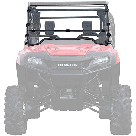 """SuperATV Heavy Duty Scratch Resistant Flip/Fold Down 2-in-1 Windshield for 2014+ Honda Pioneer 700/700-4 