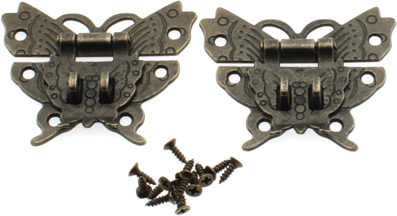 Antique Butterfly Latch Hasp LBTODH OFFer Vintage Online limited product 2pcs Lat Bronze