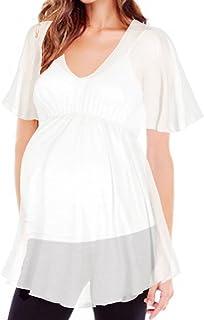 Maternity Women's Babydoll Semi Sheer Tunic Top Made in USA