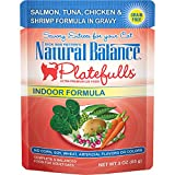Natural Balance Platefulls Grain Free Indoor Cat Food, Indoor Salmon, Tuna, Chicken And Shrimp...