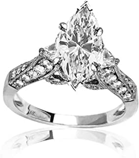 marquise diamond ring with trillions