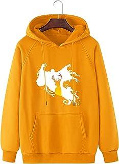 Halloween Sweatshirt هالوين هوديي الرجال البلوز هوديي جرافيك مقنعين Long Sleeve Shirt (Color : Yellow, Size : XX-Large)