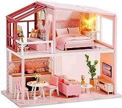 Creative space model, DIY Dollhouse Miniature Furniture, 1:24 scale miniature dollhouse kit handmade wooden house for Chri...