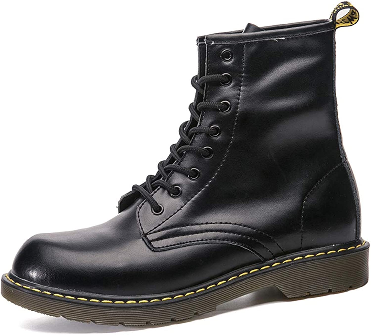 LEFT&RIGHT Boots Mens Ankle Boots, Martin Boots Lace Up Genuine Leather Motorcycle shoes Outdoor Army Combat Boots