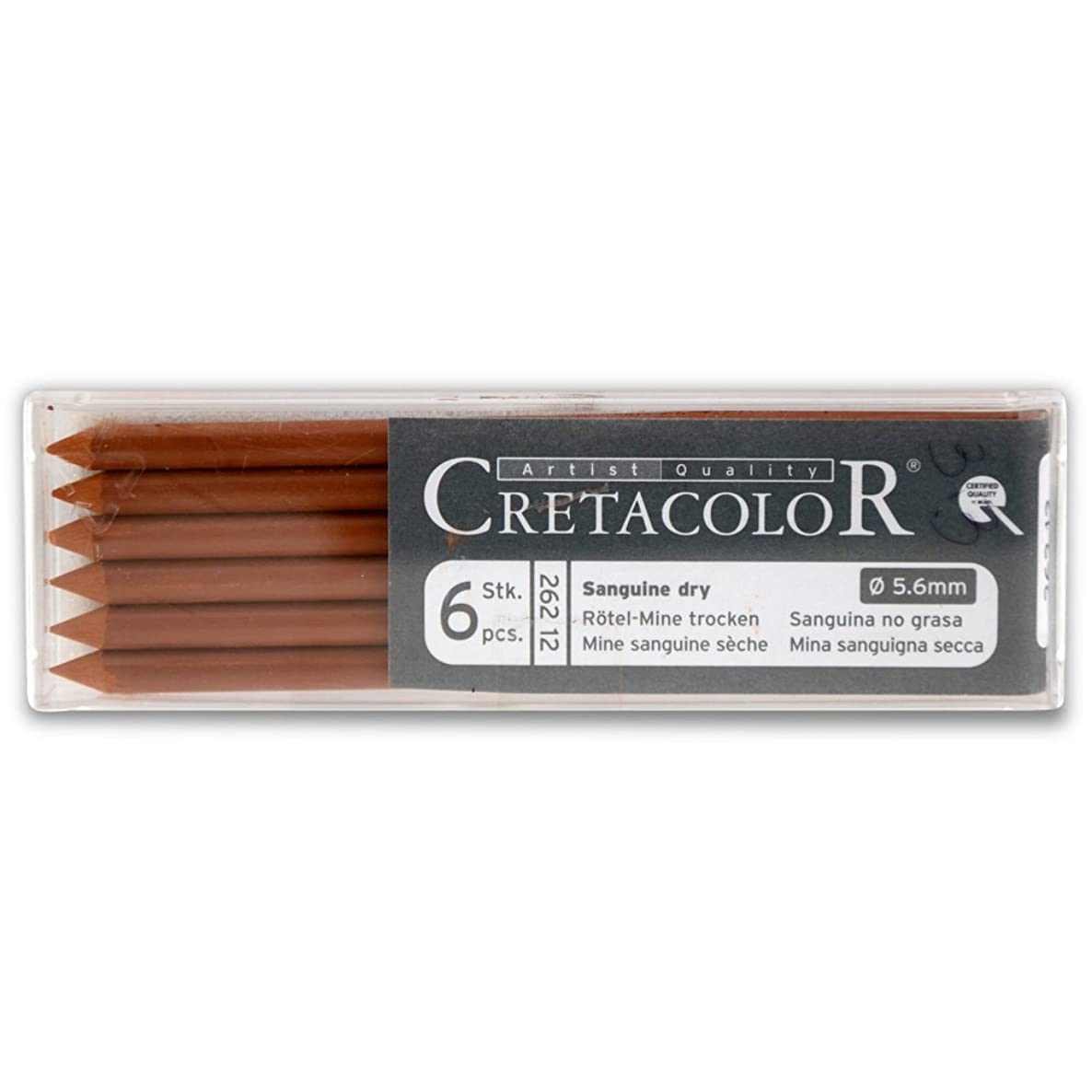 Cretacolor Artist Lead Sanguine Dry 6/Pack