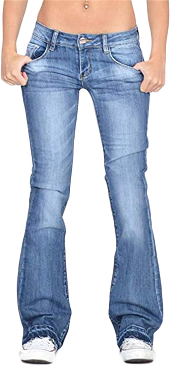 Andongnywell Flare Limited price sale Jean 5 popular for Women Wide Pan Jeans Leg Bottom Bell