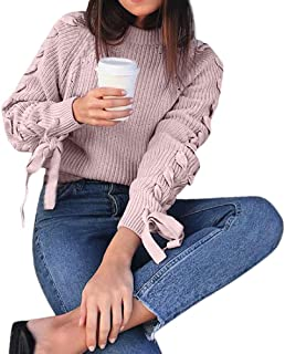 Jersey Tumblr Mujer Moda Suéter Manga Larga Casual jersei Color sólido Arco Jerséis Otoño Invierno Elegante Cuello Redondo...