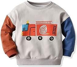 قميص أطفال DOLYKUI للأطفال من عمر 1-6 سنوات، سويت شيرت للأطفال الصغار والأطفال الصغار مطبوع عليه رسوم كرتونية، تي شيرت برقعة قماش، مناسب لفصل الخريف والشتاء للأطفال بأكمام طويلة هدية لعيد الكريسماس