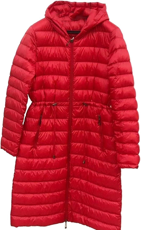 Esast Women's Winter Long Sleeve Thicken Hooded Packable Puffer Down Coat