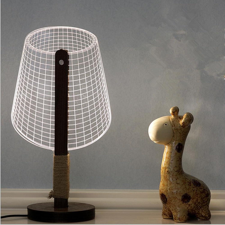 ZHIYUAN Kreative Geschenke, personalisierte Hauptdekor 3D Stereo-Schreibtisch Lampe Nachtlicht