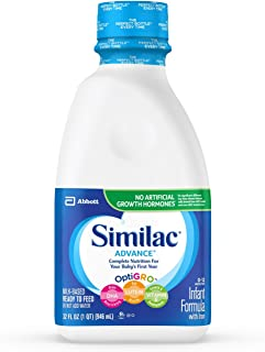 Similac Advance Infant Formula with Iron, Baby Formula, Ready to Feed, 32 oz