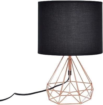 Zons Lampe À Poser Filaire Géométrique 25xH44cm Bronze