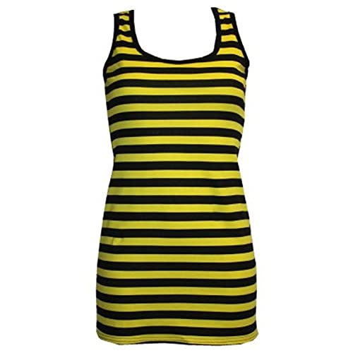 427daa2df6 Yellow & Black Stripe Bumble Bee Bug Long Vest Top