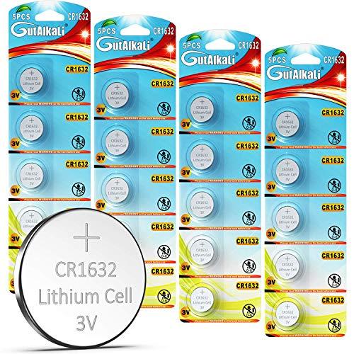 GutAlkaLi 20 Stück CR1632 3V Lithium Knopfzelle Elektro CR 1632 Lithium