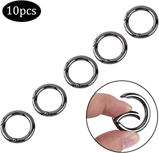 EDC Ring buckle Locking Carabiners 10PCS Zinc Alloy Round Carabiner Spring Snap Clips Hook Keychain Keyring Buckle