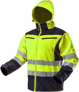 Neo Men's Hi-Vis Reflective Softshell Work Jacket Yellow/Orange Waterproof Windproof