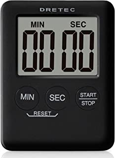 dretec(ドリテック) デジタルタイマー ポケッティ 薄型9mm コンパクト カウントアップ99分59秒 T-307BK(ブラック)