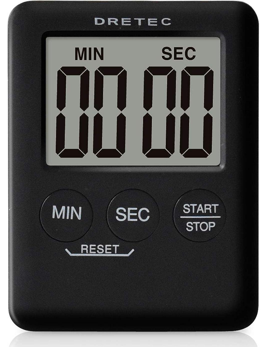 ピストン文献把握dretec(ドリテック) デジタルタイマー ポケッティ 薄型9mm コンパクト カウントアップ99分59秒 T-307BK(ブラック)