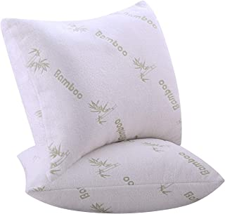 Niagara Sleep Solution Pillows for Sleeping 2 Pack Bamboo Ultra Soft Bounce Back Standard Queen Size 18 x 26 inches Pair S...