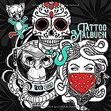 Tattoo Malbuch: high quality   Tattoo Vorlagen   old school + new school   verschiedene Künstler   Malbuch Tattoos   90+ Designs   21x21 cm   90 S.