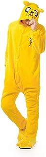 7°MR Pijama Adulto Unisex Pijamas de Perro Amarillo Adulto Adulto Suave cálido Pijama Festival Invierno diversión diversión Mono de Dibujos Animados (Color : Jake, Size : Medium)
