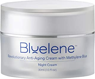 Sponsored Ad - Anti Aging Night Cream, Bluelene. Revolutionary Anti Wrinkle Face Cream with Methylene Blue (30 ml)