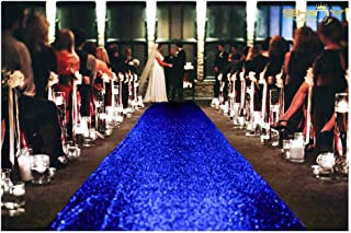 ShiDianYi Sequin Aisle Runner-Royal Blue-36Inchx15Feet Wedding Sequins Carpet Aisles Floor Runner (Royal Blue)