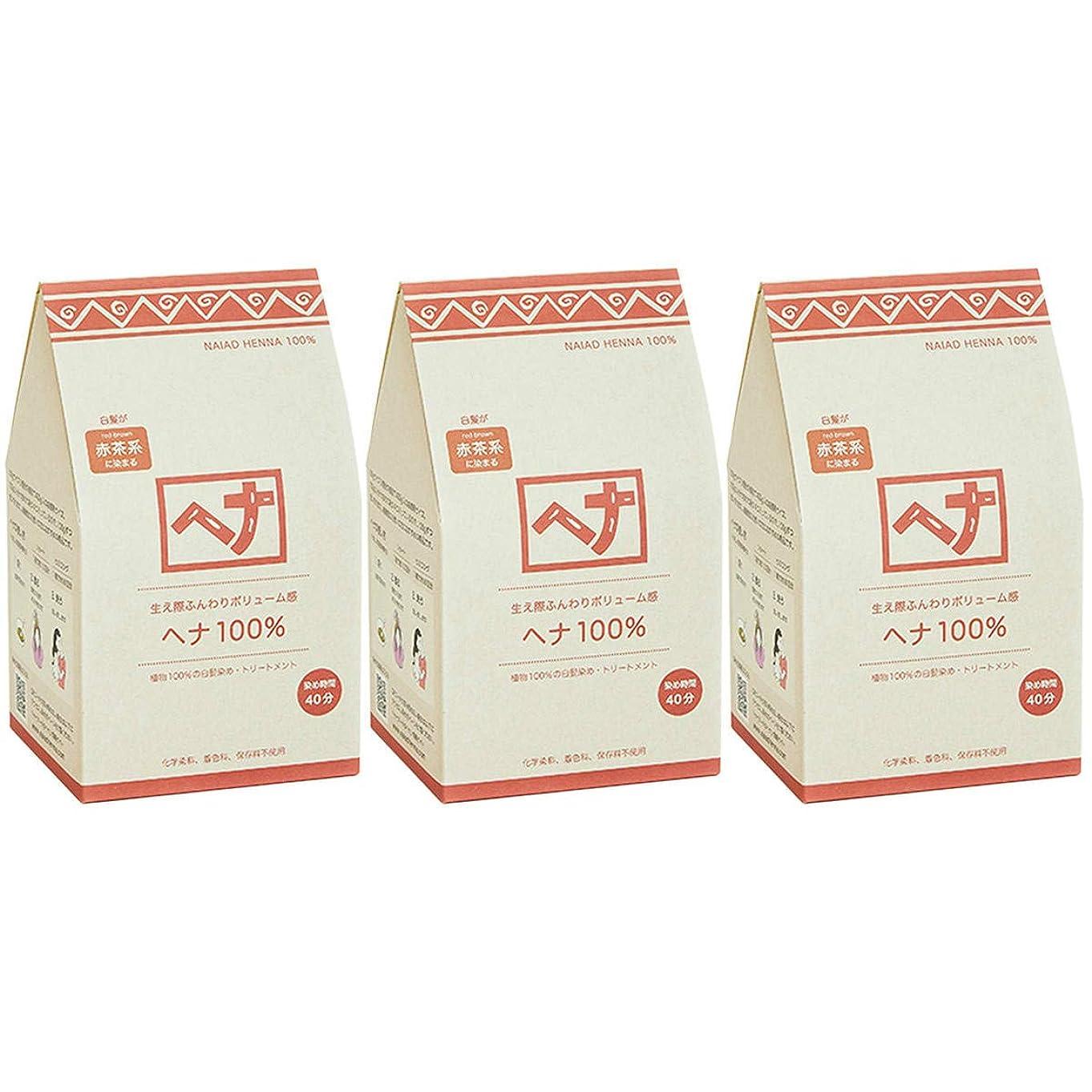 グリーンランドカロリーポンプナイアード ヘナ 100% 赤茶系 生え際ふんわりボリューム感 400g 3個セット