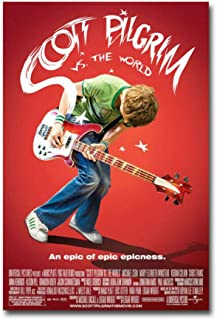 Scott Pilgrim vs the World Movie Comic Painting Poster Print Canvas Wall Picture For Home Room Decor -50x70cm Sin marco