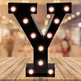 Oycbuzo Light up Letters LED Letter Black Alphabet Letter Night Lights for Home Bar Festival Birthday Party Wedding Decora...