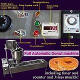 TZ® Máquina automática comercial para hacer donas con tanque de aceite ancho 3 piezas molde un contador (220V/50HZ, máquina de donas+1 molde)