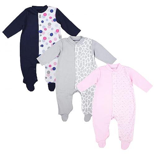 TupTam Unisex Baby Schlafoverall mit Fuß 3er Pack 44a096dba9