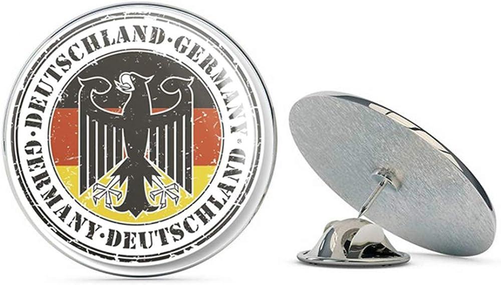 Deutschland Germany German Round Metal Shirt Quality inspection Pin Hat 0.75