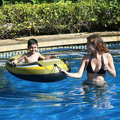 Inflatable Boats for Adults 2 Person, Fishing Dinghy, Inflatable Boat for Kids with Paddles, Inflatable Rafts Boats, Touring Kayak (Two Options),1personal