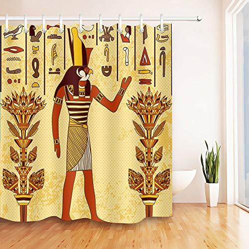 Kreative Feder USA Flagge Wasserdichtes Gewebe Duschvorhang und Haken Badezimmer Matte