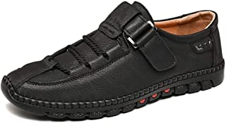MYHYZZ-Oxfords Men's Driving Loafers Boat Shoes Slip on Style Metal Buckle Decor Microfiber Leather Super Soft PU Lined Anti Slip Round Toe Work or Casual Wear