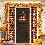 JOCACTI Thanksgiving Banner Porch Sign Thanksgiving...